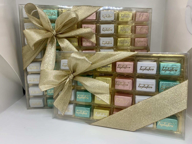 Scatola cioccolatini misti trasparente
