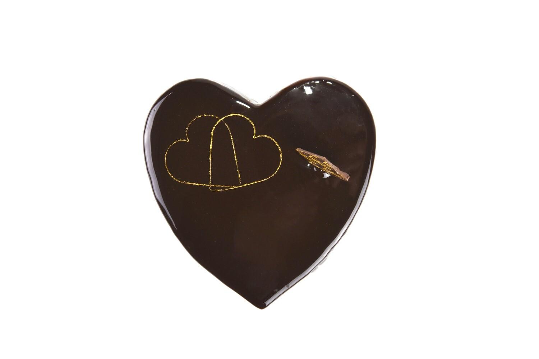 Cuore di mousse al cioccolato