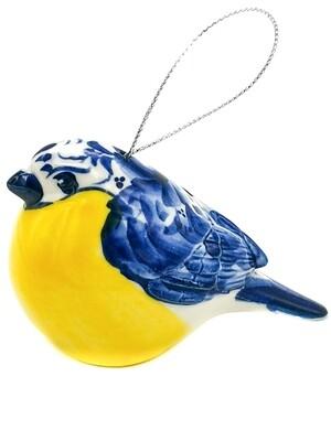 Ёлочная игрушка Синичка.  5,5х9х5см.