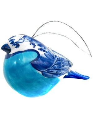 Ёлочная игрушка Малиновка. 5,5х9х5см.