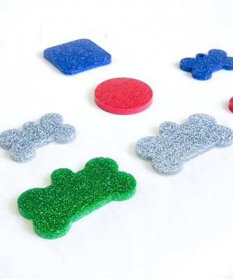 GLITTER TAGS CLEARANCE
