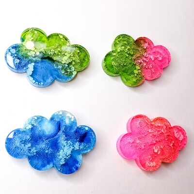 Funky Clouds Pet ID Tag