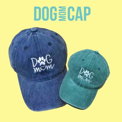 Dog Mom Washed Cap
