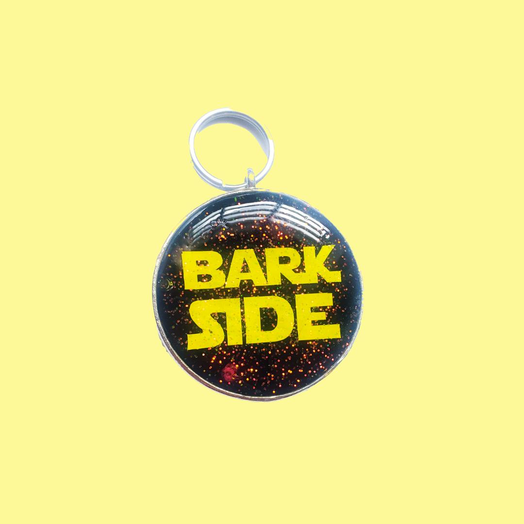 BARK SIDE METAL PET ID TAG