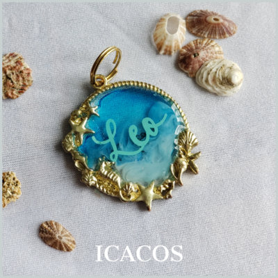 Icacos Beach Metal Pet Tag