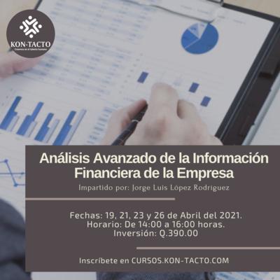 Análisis Avanzado de la información Financiera de la Empresa