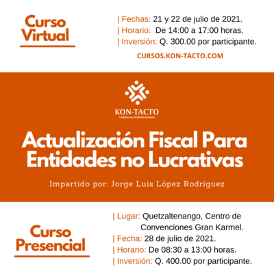 Actualización Fiscal Para Entidades No Lucrativas