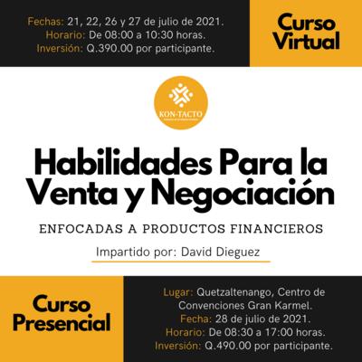 Habilidades para la venta y negociación -- Enfocadas a productos financieros