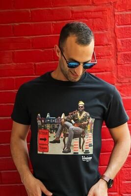 T-shirt Noir Unisexe- Design Unicone