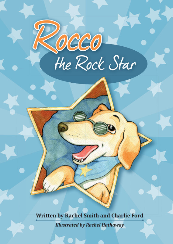 Rocco the Rock Star, the first children's book in the series.