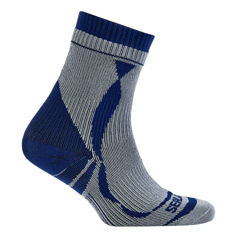 Sealskinz - Chaussette SS Thin Ankl length WHITE BLUE