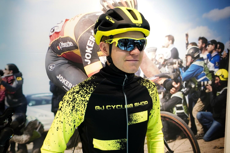 Veste Hiver Thermique GJ Cycling Shop Black/Fluo