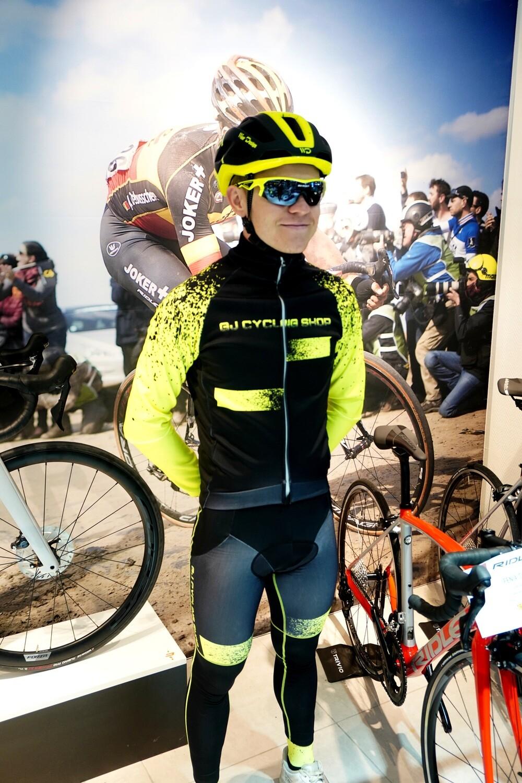 Collant Hiver Thermique GJ Cycling Shop Black/Fluo