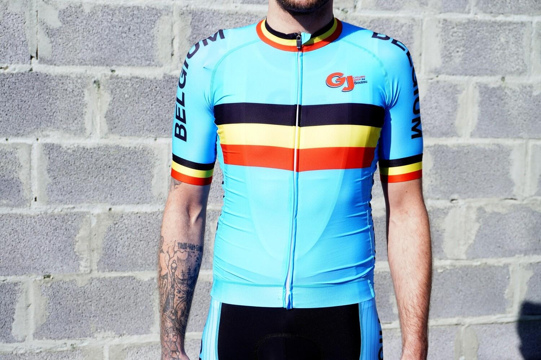 Maillot GJ Team Belgium Coolmax/Lycra