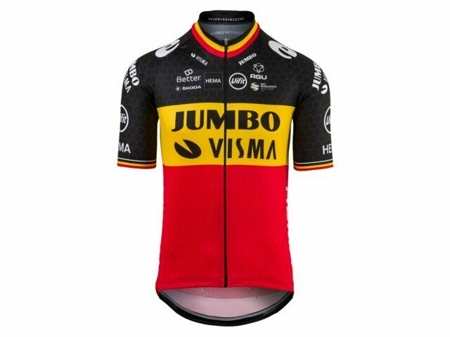 Maillot Champion de Belgique Wout Van Aert Jumbo Visma 2020-2021