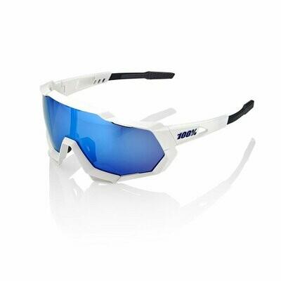 100% Speedtrap Hiper Matte White Blue