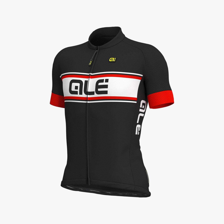 Ale Vetta Jersey Solid Black/Red