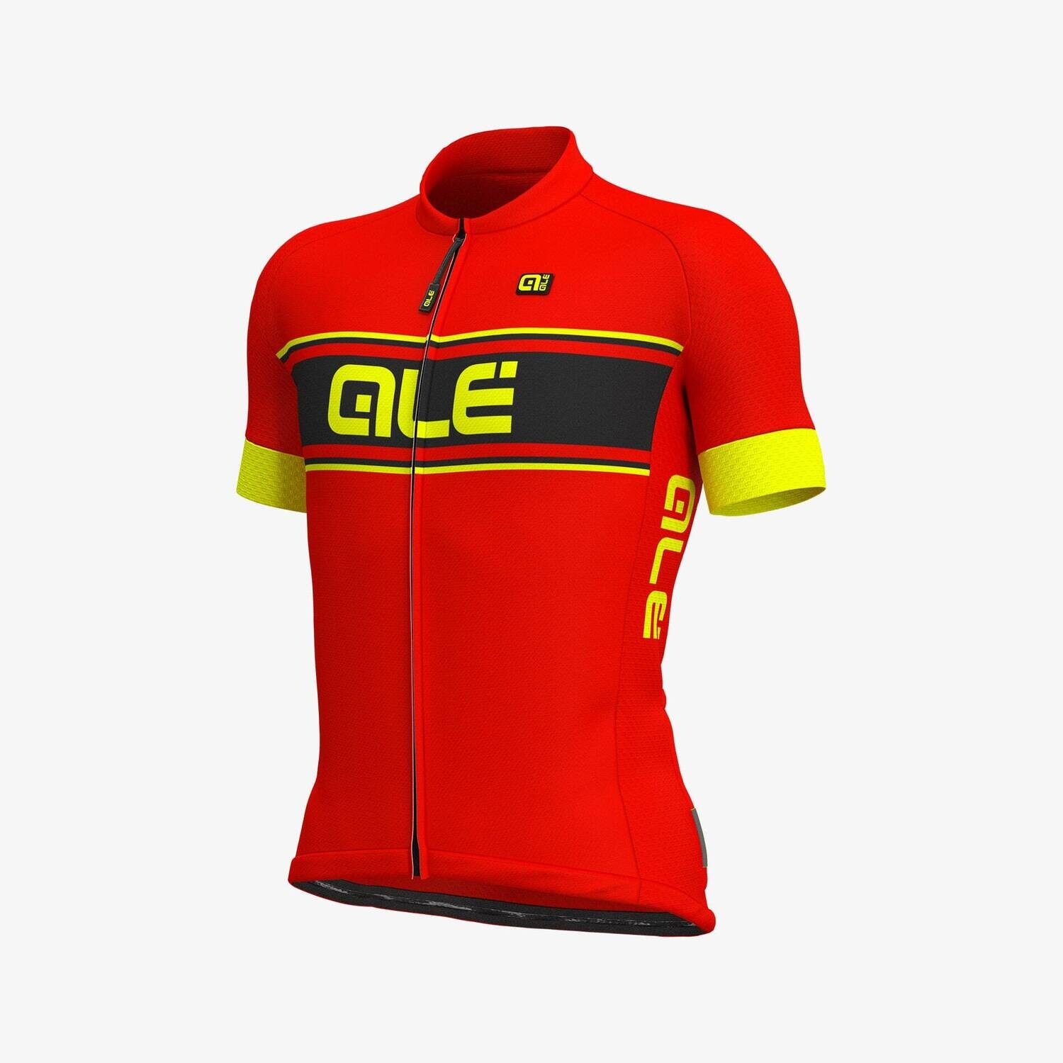 Ale Vetta Jersey Solid Red / Yellow Fluo
