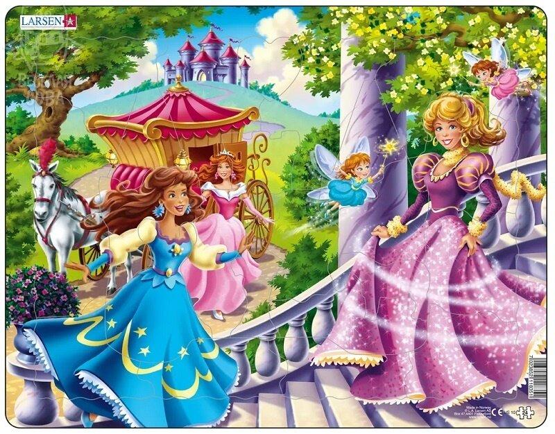 """Пазл Larsen """"Принцессы"""", 24 детали"""