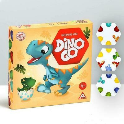 Настольная игра-пазлы «Dino Go», 61 тайл