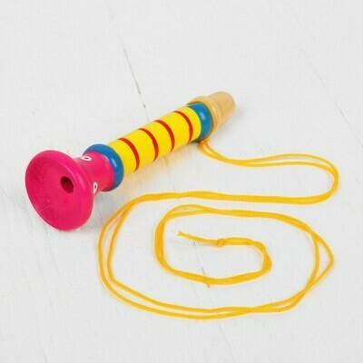 Музыкальная игрушка «Дудочка на веревочке», высокая, цвет МИКС