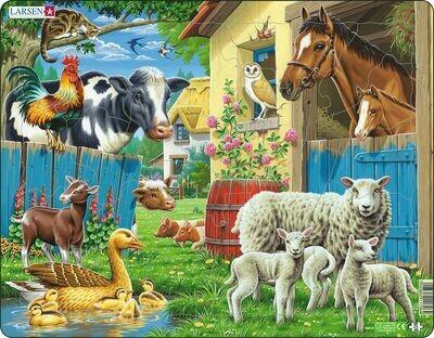 """Пазл Larsen """"Животные фермы"""", 23 детали"""