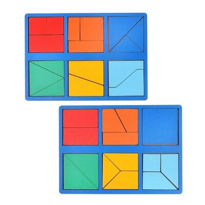 Набор 2 планшета «Сложи квадрат» Б.П. Никитин, 1 уровень (мини), цвет МИКС