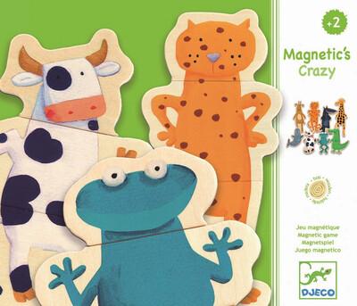 DJECO Детская развивающая магнитная игра Забавные животные