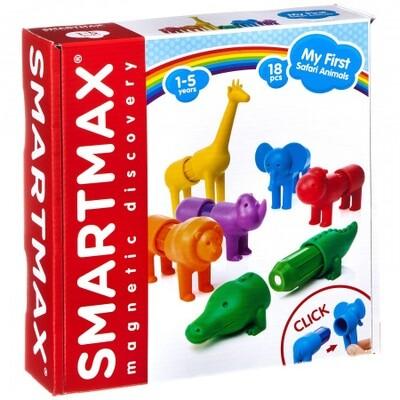 Магнитный конструктор SmartMax/ Bondibon, Мой первый Сафари-зоопарк