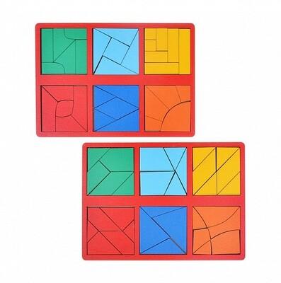 Набор 2 планшета «Сложи квадрат» Б.П. Никитин, 3 уровень (мини), цвет МИКС