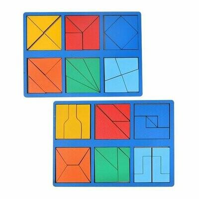 Набор 2 планшета «Сложи квадрат» Б.П. Никитин, 2 уровень (мини), цвет МИКС