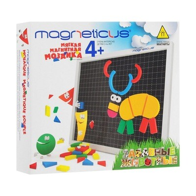 Magneticus Мозаика 4+ Забавные животные 5 цветов