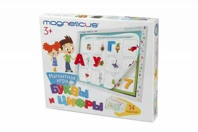 """Magneticus Игровой набор """"Буквы и Цифры"""" в картонной коробке"""