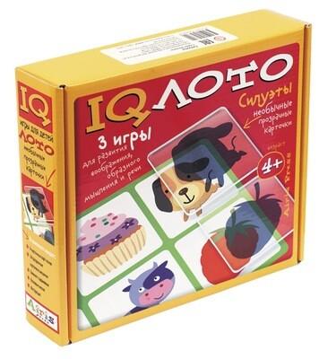 """IQ лото """"Силуэты"""" Комплект из трех игр"""