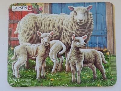 """Пазл Larsen """"Животные фермы"""", 7 деталей"""