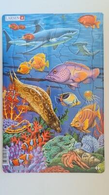 """Пазл Larsen """"Коралловые рифы"""", 25 деталей"""