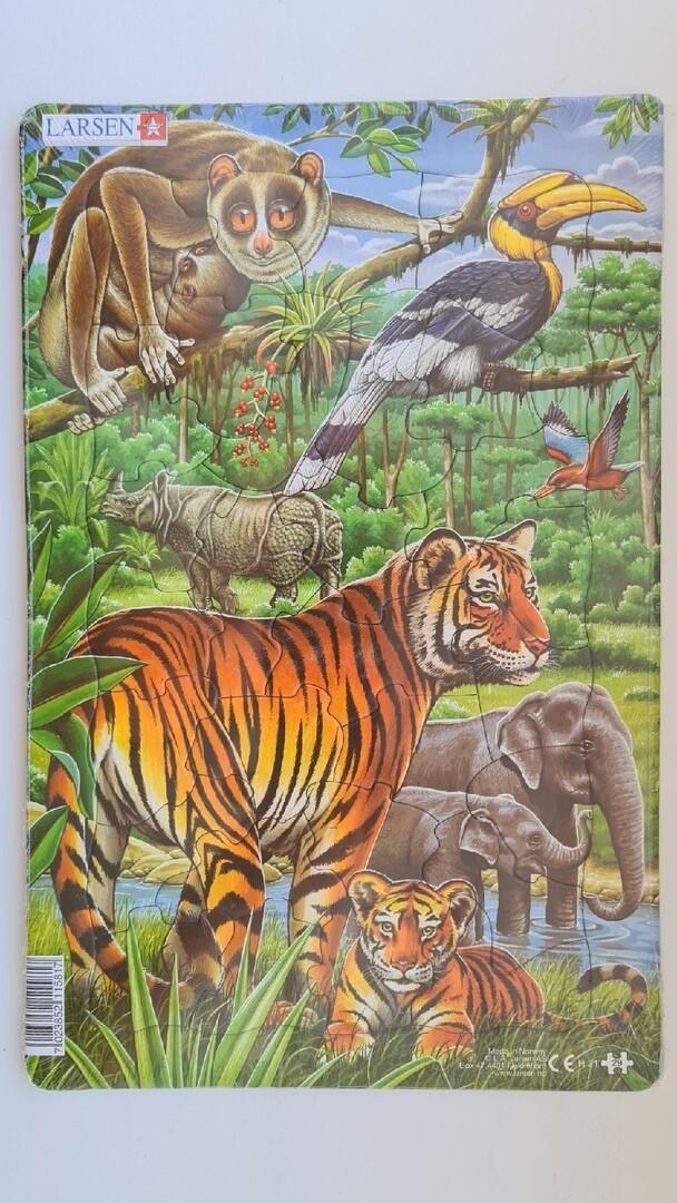 """Пазл Larsen """"Джунгли, Индия и Юго-Восточная Азия"""" 30 деталей"""