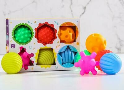 """Подарочный набор развивающих мячиков """"Цвета и формы"""" 6 шт."""
