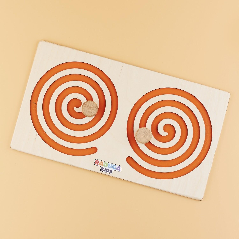 Межполушарная доска круг, оранжевая