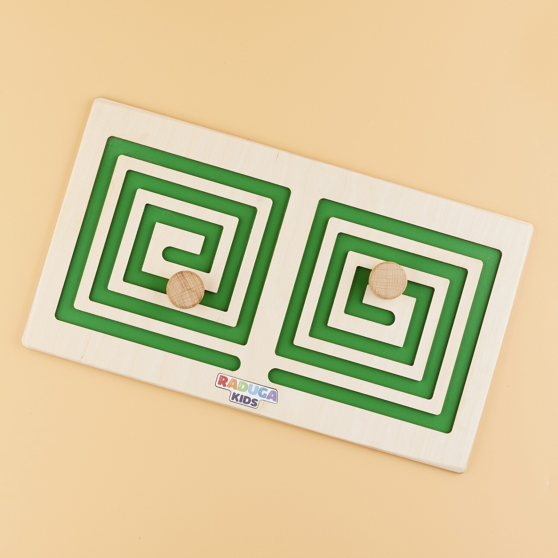 Межполушарная доска квадрат, зелёная