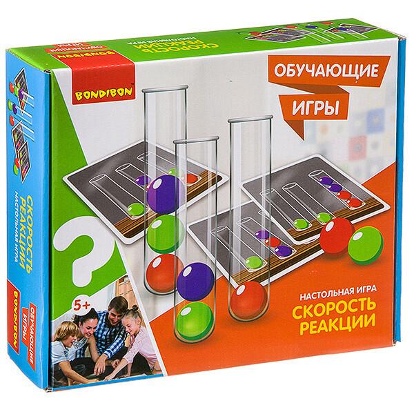 Обучающие игры Bondibon Настольная игра «СКОРОСТЬ РЕАКЦИИ»