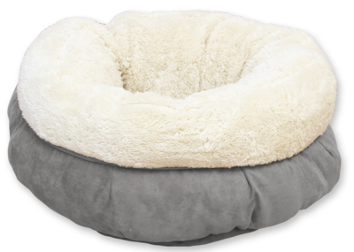 Lambswool donut bed - Grey