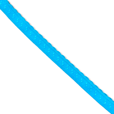 Turquoice fold-over elastic with picot (10 mm)