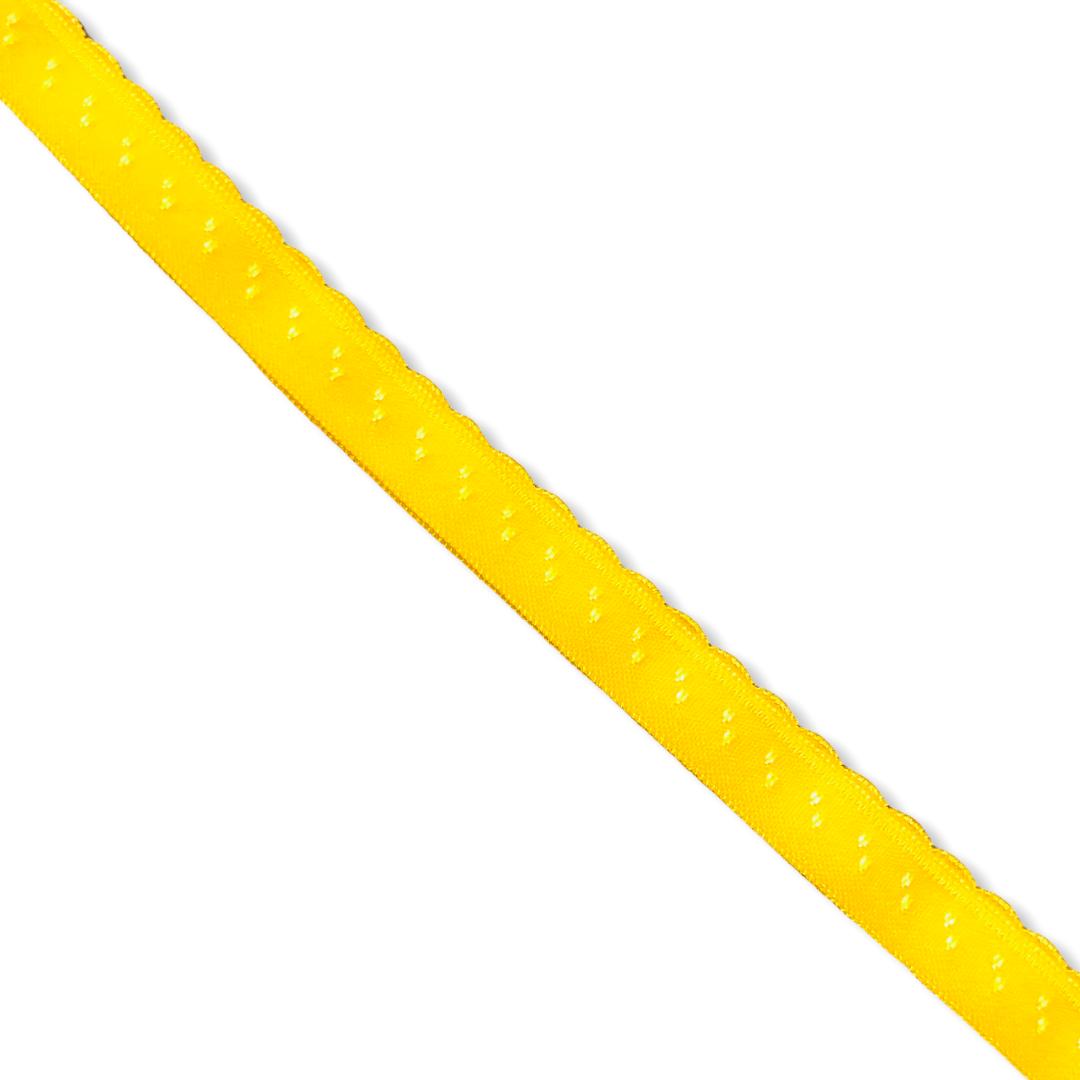 Gul vikresår med picot (10 mm)