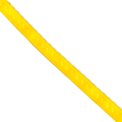 Yellow fold-over elastic with picot (10 mm)