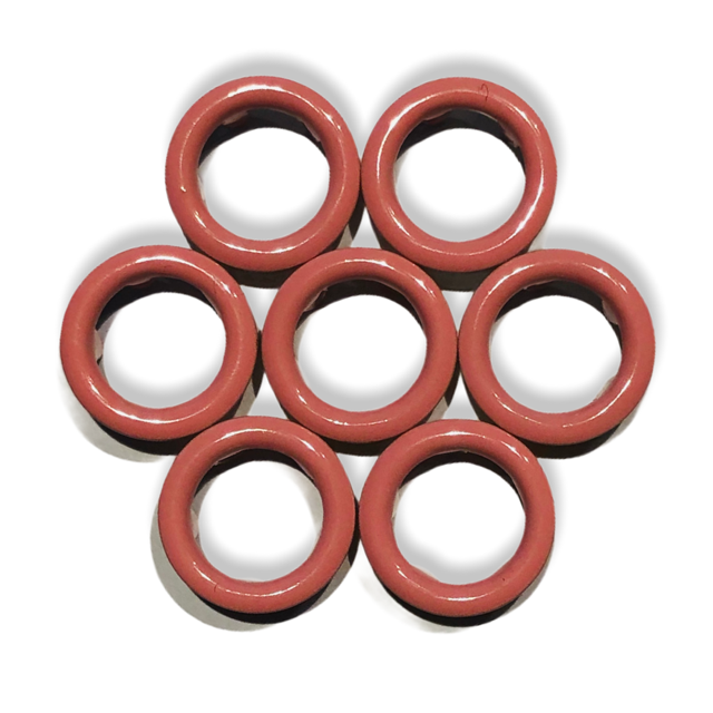 Ljusrosa tryckknappar - 11 mm