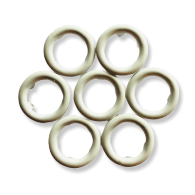 White snap buttons - 11 mm
