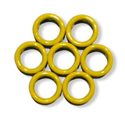 Yellow snap buttons - 11 mm