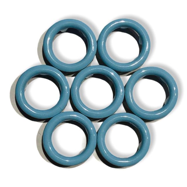 Ljusblå tryckknappar - 11 mm