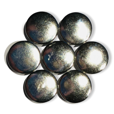 Silver snap buttons - 11 mm